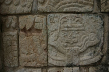 From the wall of a Mayan ruin somewhere in the Yucatan, Mexico.