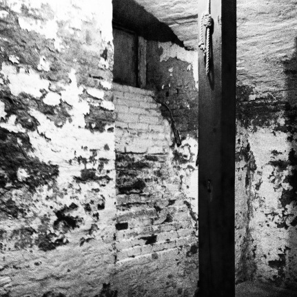 Gallows, basement prison.